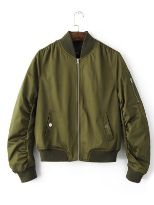 Sa Hye-Jun – Record Of Youth Navy Green Bomber Jocket (11)