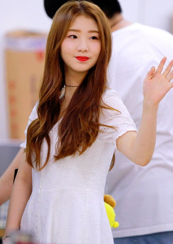 White V-neck Mini Dress | Yeojin – Loona