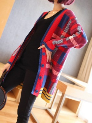 Yugyeom – GOT7 Checkered Knitted Cardigan (7)