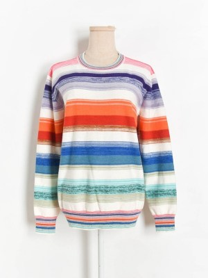 Hoshi – Seventeen Colorful Striped Sweater (7)