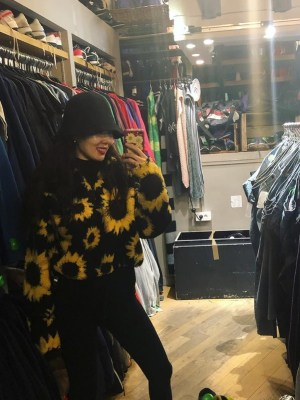 Sunflower Wool Sweater With Zipper | Hyuna