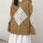 Diamond and Heart Patterned Sweater | Hyungwon  – MONSTA X