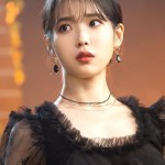 Black Crystal Gold Earrings | IU – Hotel Del Luna