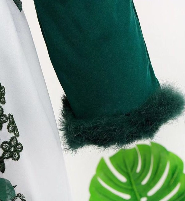 Green V-Neck Top  | IU – Hotel Del Luna