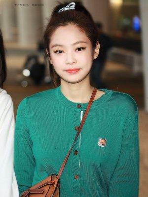 Fox Green Knit Cardigan | Jennie – BlackPink