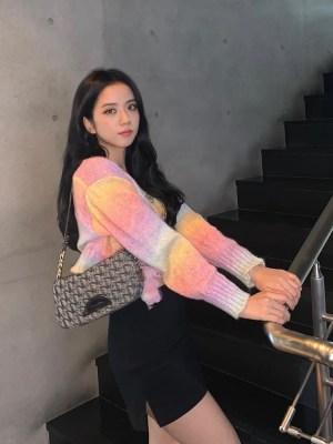 Rainbow Dye Cropped Cardigan | Jisoo -BlackPink