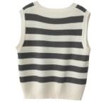 Knitted Vest With Stripe Pattern | Jun  – Seventeen