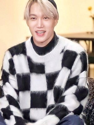 Black And White Mohair Sweater | Kai – EXO