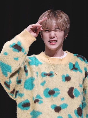 Yellow Sweater With Leopard Pattern | Minhyuk – MONSTA X