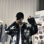 Stained Black Denim Jacket | S.Coups – Seventeen