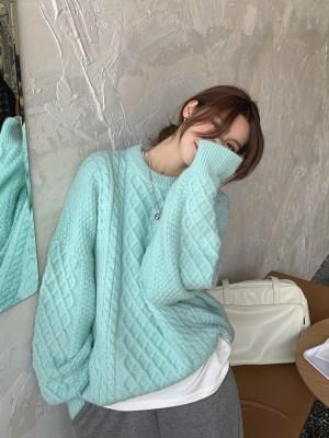 Shownu – MONSTA X Mint Green Sweater (13)