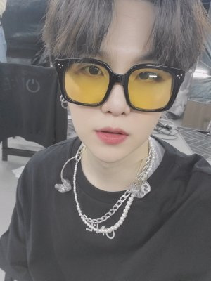 Yellow Tinted Sunglasses | Suga – BTS