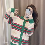 Striped Cardigan With Collar | The8  – Seventeen