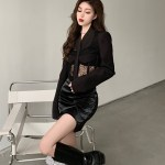 Black Corset Jacket | Yeri – Red Velvet