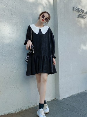Dahyun – Twice Black Doll Collared Dress With Flower Embroidery (14)