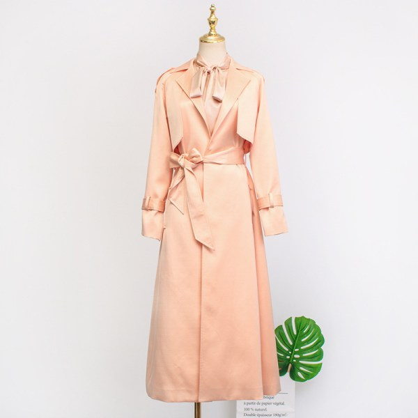 Apricot Belted Trench Coat | IU – Hotel Del Luna