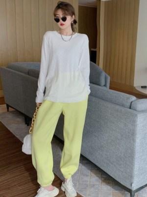 Jennie – BlackPink Yellow Classic Sweatpants (6)
