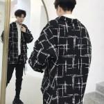 Black Plaid Patterned Shirt  | LeeKnow – Stray Kids
