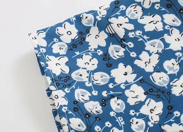 Blue Floral Sling Dress | Lisa – BlackPink