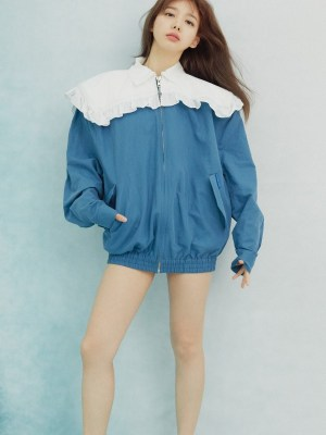 Ruffled Denim Jacket | Nayeon – Twice