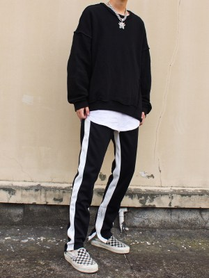 Suga – BTS Black Track Pants With Zipper (6)