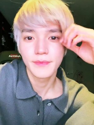 Grey Collared Sweater | Taeyong – NCT