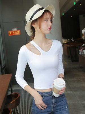 Dahyun – Twice White Cut-Out Long Sleeve T-Shirt (10)