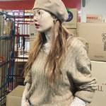 Beige Knotted Designed Sweater | Hyuna
