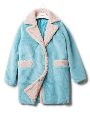 IU – Blue Lamb Wool Coat (5)