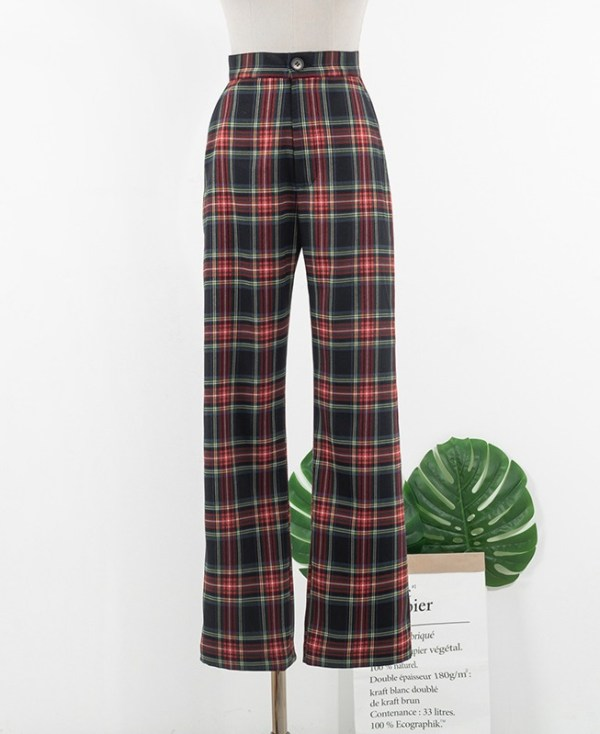 Casual Plaid Pants | IU