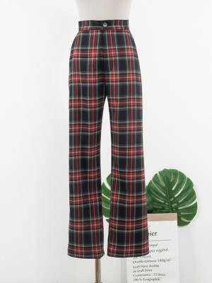 IU – Casual Plaid Pants (4)