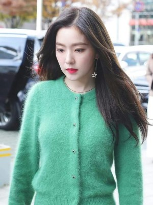Green Mohair Cardigan | Irene – Red Velvet
