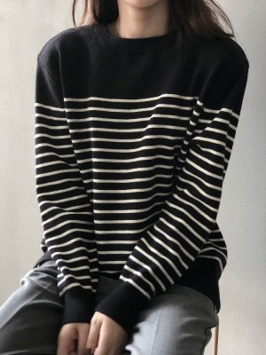 Lee Su Ho – True Beauty Black Stripe Patterned Sweater (32)