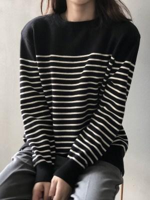 Lee Su Ho – True Beauty Black Stripe Patterned Sweater (32)