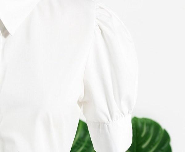 White Puffed Sleeve Blouse | Rose – BlackPink