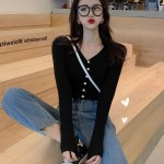 Black Slim Fit Cardigan | Seo Dan Ah – Run On
