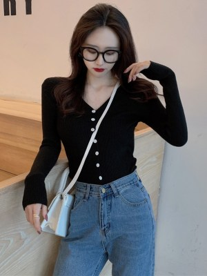 Seo Dan Ah – Run On Black Slim Fit Cardigan (6)