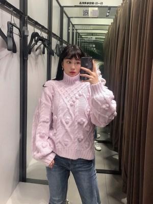 Solar- Mamamoo Knitted Pom Pom Lilac Sweater (12)