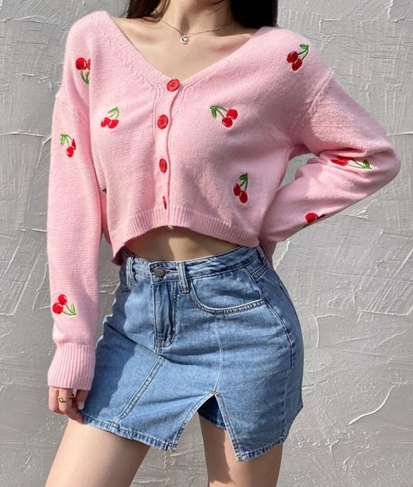 Pink Cherry Cardigan | Yuqi – (G)I-DLE