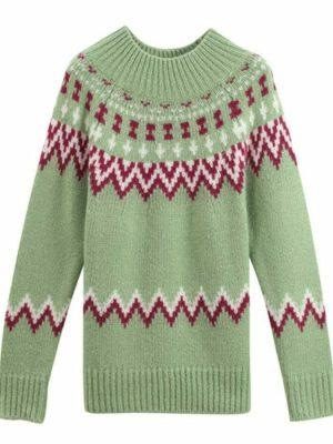 Chuu – Loona – Green Multi-Pattern Sweater (2)