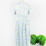 Floral Pleated Dress With Mesh Detail | Hyuna