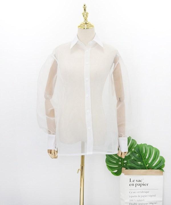 White See-Through Shirt   Hyuna