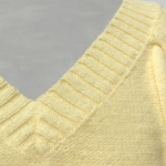 Yellow V-Neck Knit Sweater | IU