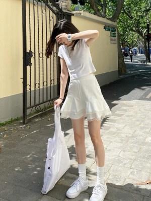 Joy – Red Velvet White Layered Lace Skirt (9)