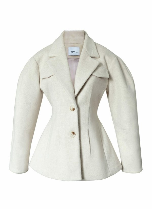 Puff Sleeve Waist Snatched Blazer |  Lim Joo Kyung – True Beauty