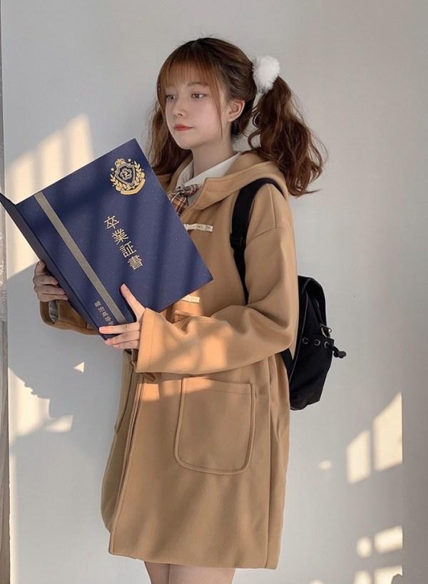 Khaki Hooded Coat | Lim Joo Kyung – True Beauty