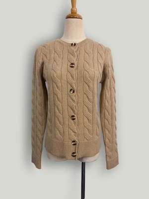 Lim Joo Kyung – True Beauty Khaki Twist Knitted Button Cardigan (10)