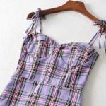 Lilac Plaid Dress | Miyeon – (G)I-DLE