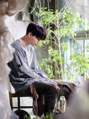 Grey Distressed Double Layered T-Shirt | Suga – BTS