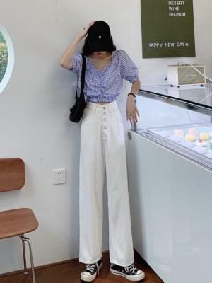 Yuna – ITZY White Wide-Leg Jeans (19)